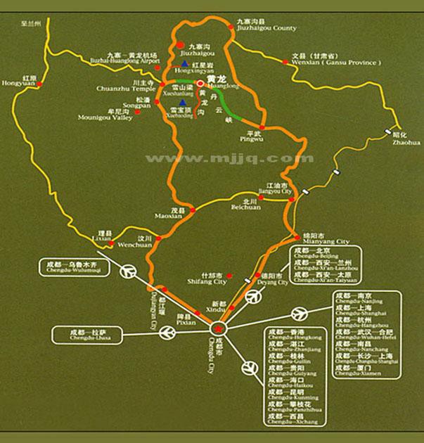 四川九寨沟地图-九寨沟旅游网