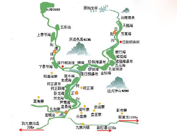 四川九寨沟地图